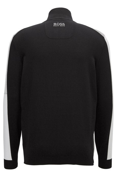 Zelchior Pro Colour-block sweater in a water-repellent cotton blend