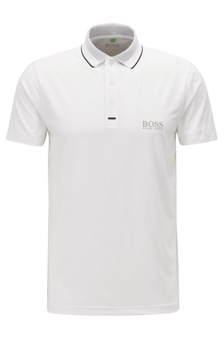 Pauletech Pro Slim-fit polo shirt in moisture-wicking stretch fabric White