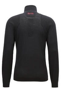 Zon Pro Zip-neck sweater in water-repellent merino wool