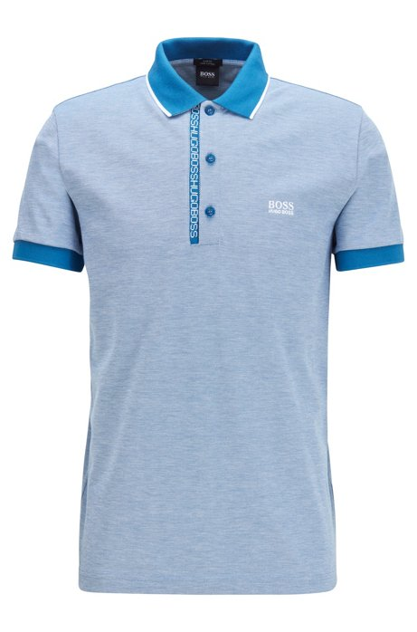 Slim-fit polo shirt in Pima-cotton Oxford piqué