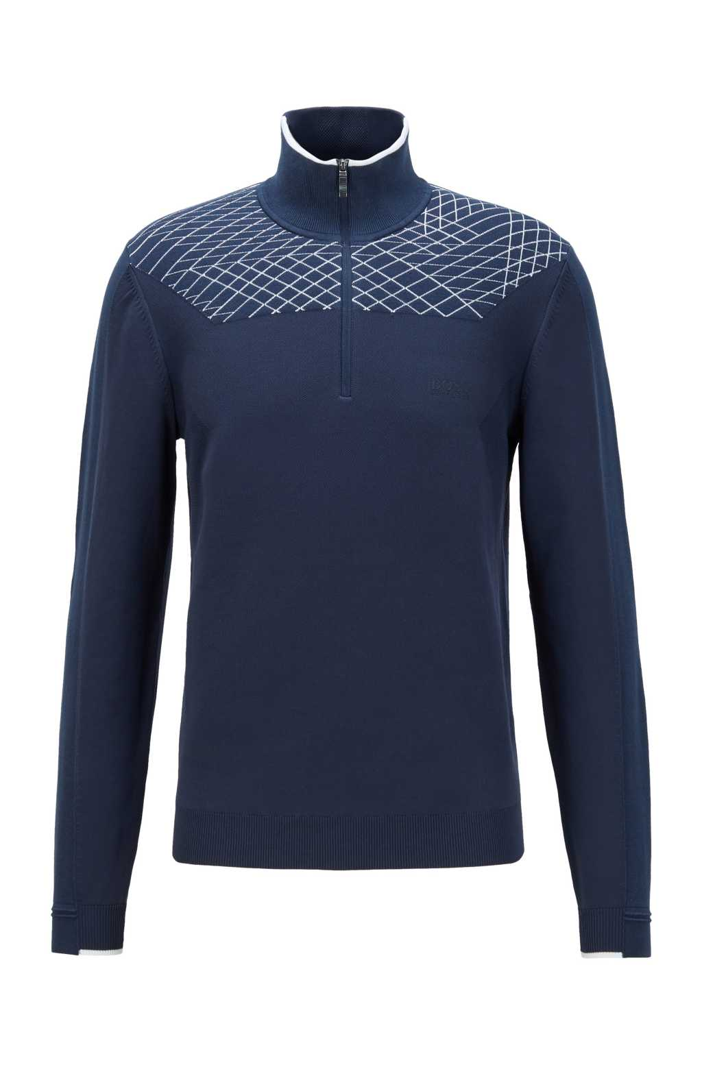 BOSS ZADEN KNITWEAR IN NAVY