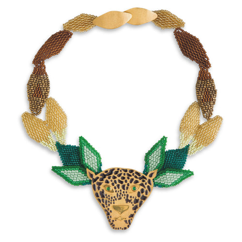 Jaguar en la Selva Necklace