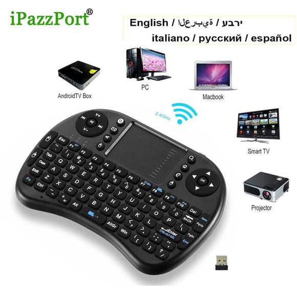 iPazzport i8 mini Keyboard Air Mouse Multi-Media Remote Control +Touchpad Handheld Keyboard for Android TV BOX PC Laptop Tablet