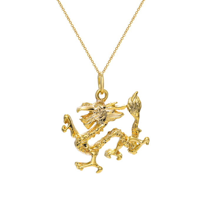 Gold Dragon Pendant