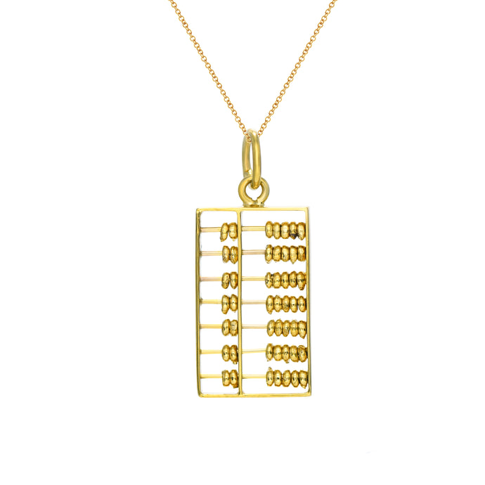 Gold Abacus Pendant (Medium)