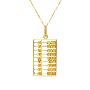Gold Abacus Pendant (Large)
