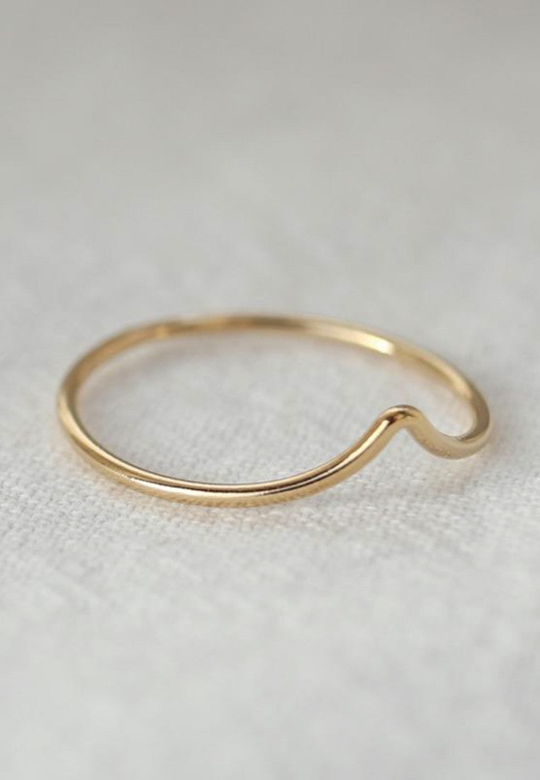 Dainty Gold Filled V Ring - Antonia Y. Jewelry