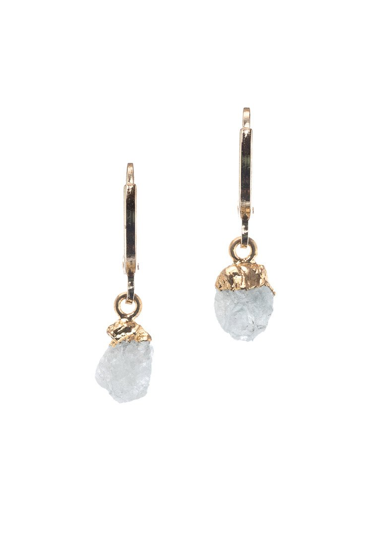 Raw Aquamarine Hoops | Antonia Y. Jewelry