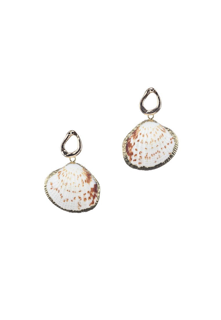 Maya Seashells Gold Studs - Antonia Y. Jewelry