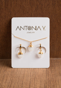 Moonstone Necklace & Earrings Gift Set | Antonia Y. Jewelry