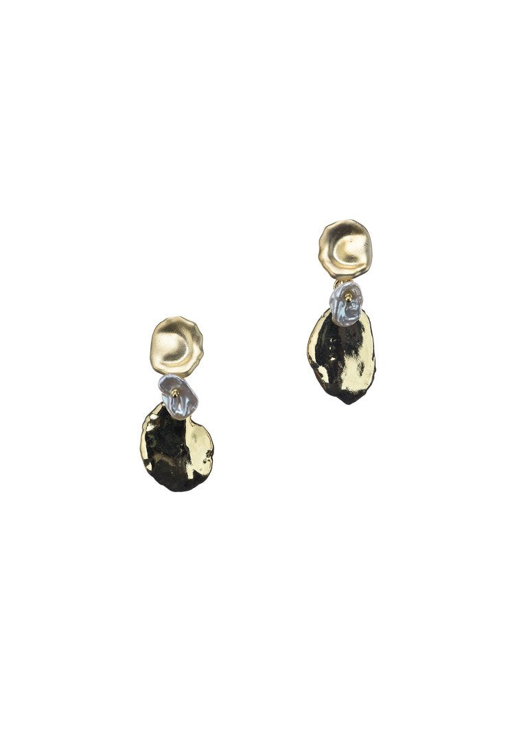 Sofia Fresh Water Pearls Gold Earrings - Antonia Y. Jewelry