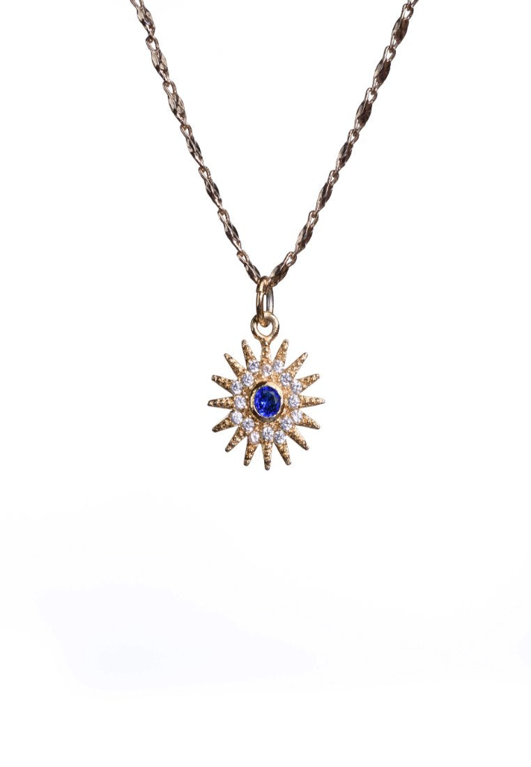 Dainty Gold Sun Necklace | Antonia Y. Jewelry