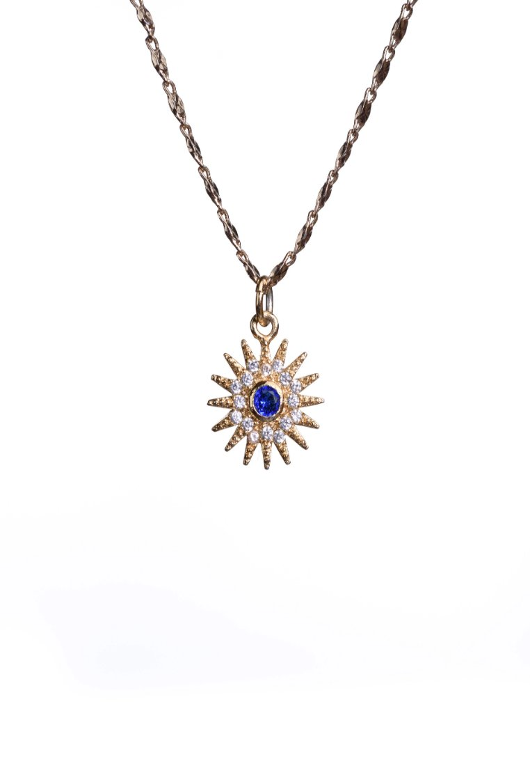Dainty Gold Sun Necklace - Antonia Y. Jewelry