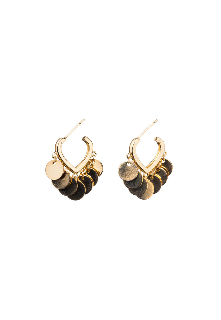 Kyra Gold Hoops | Antonia Y. Jewelry