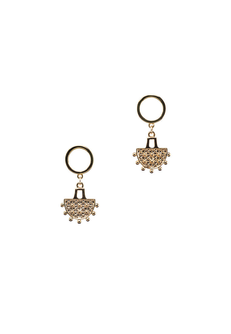 Chandelier Gold Stud Earrings | Antonia Y. Jewelry