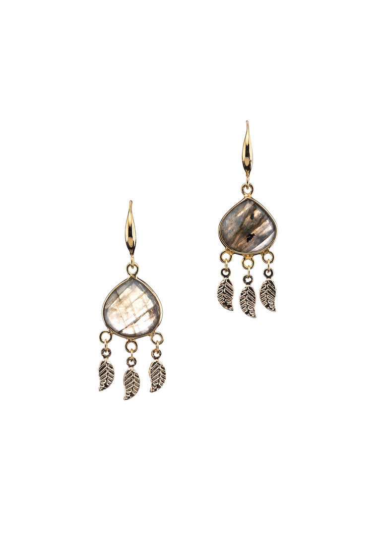 Mia Labradorite Dangle Earrings - Antonia Y. Jewelry