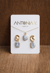 Misty Dendrite Opal Necklace and Earrings Set | Antonia Y. Jewelry