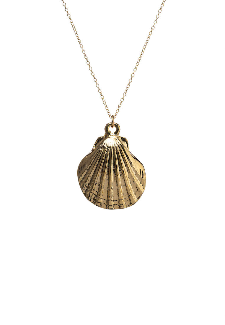 Daniela Gold Scallop Shell Necklace | Antonia Y. Jewelry