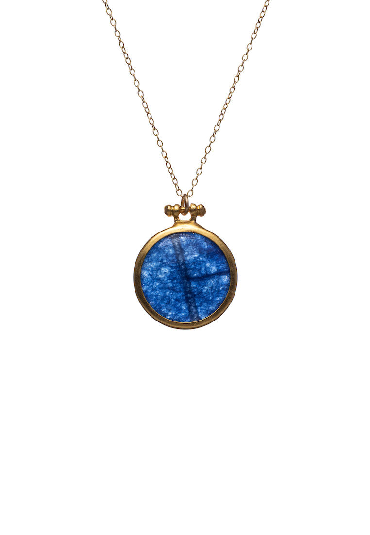 Kirsten Blue Coin Necklace | Antonia Y. Jewelry