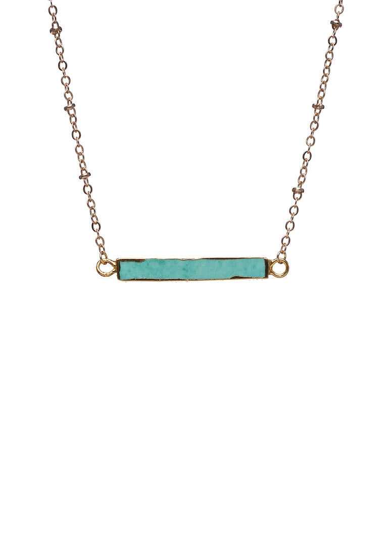 Turquoise Bar Necklace - Antonia Y. Jewelry