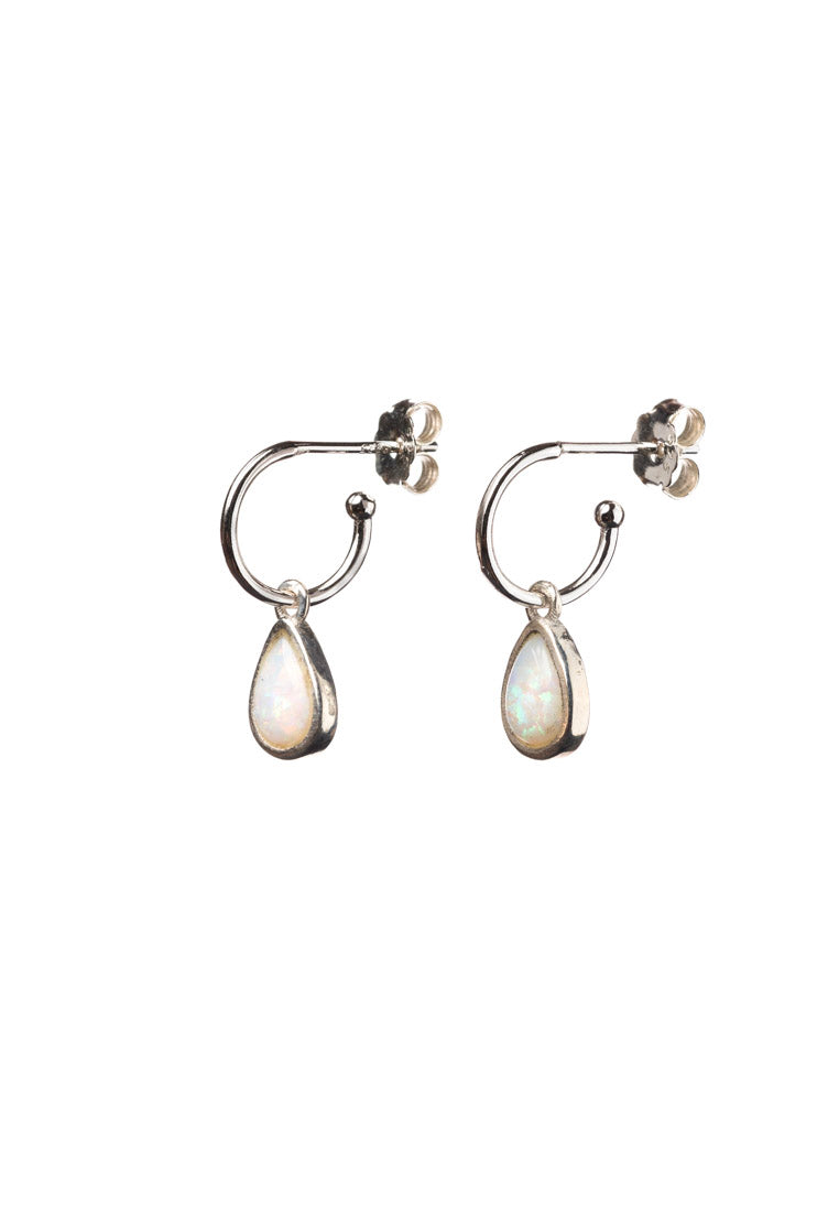 Australian Opal Teardrop Earrings | Antonia Y. Jewelry