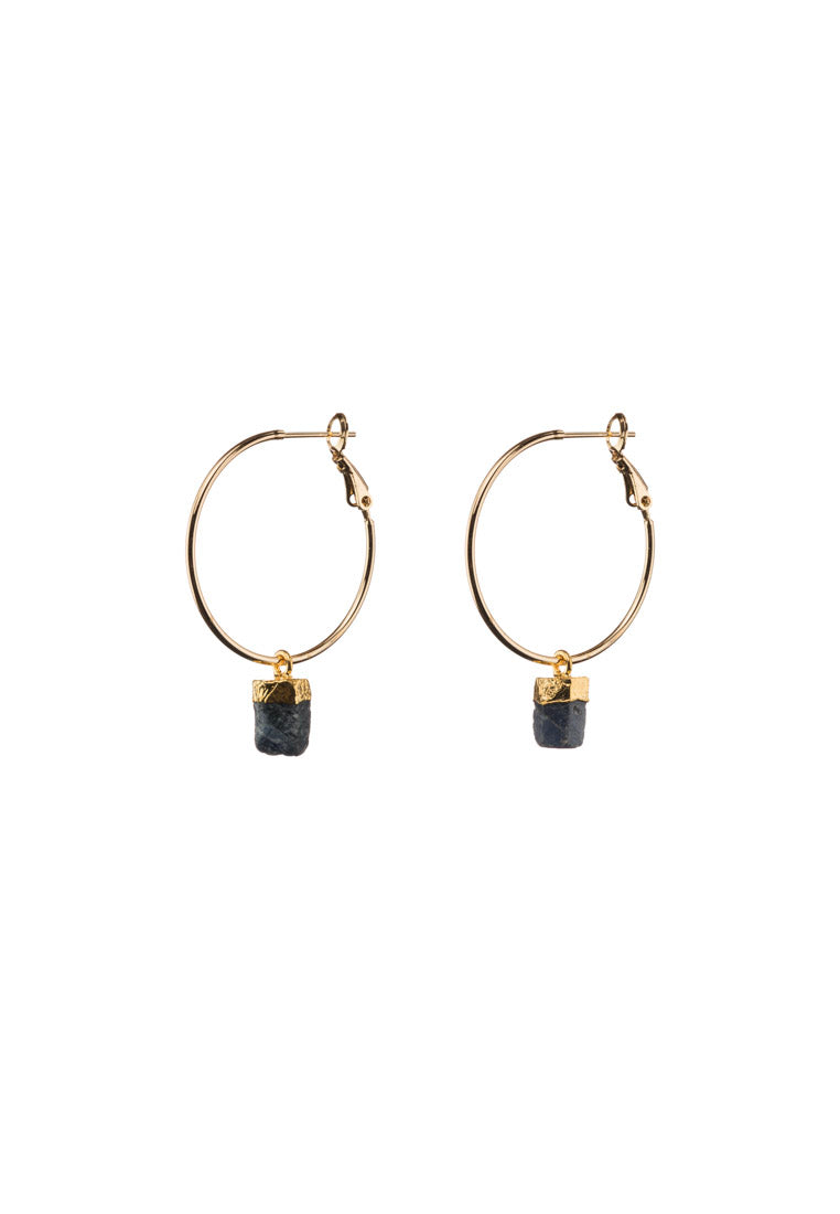 Sapphire Large Gold Filled Hoops - Antonia Y. Jewelry