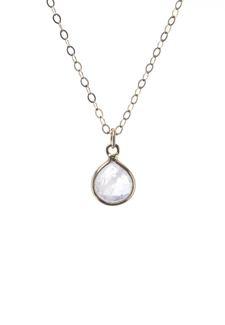 Natural Moonstone Dainty Necklace | Antonia Y. Jewelry