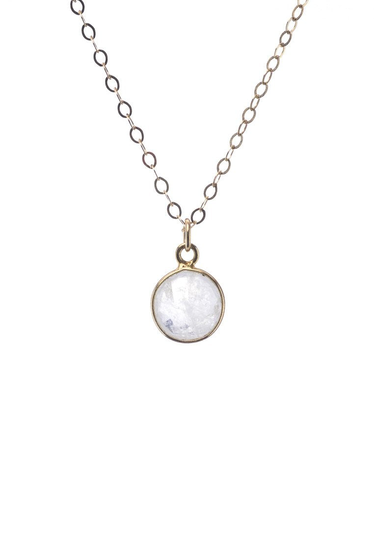 Moonstone Round Dainty Necklace - Antonia Y. Jewelry