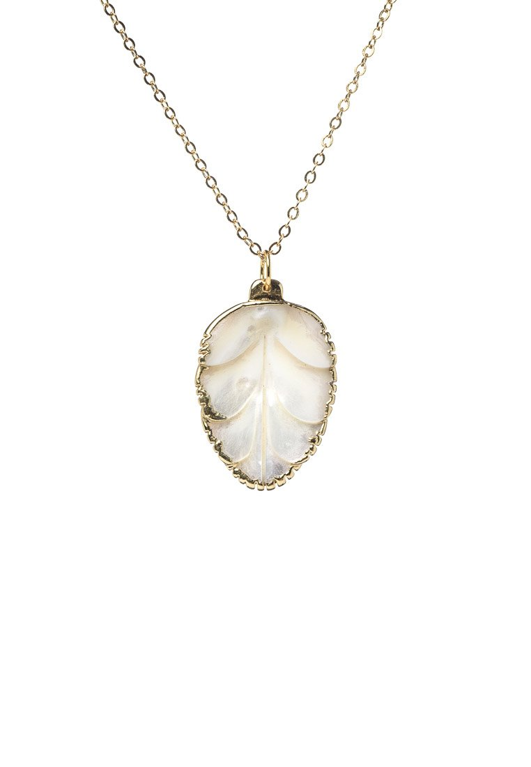 Aria Pearl Leaf Necklace - Antonia Y. Jewelry
