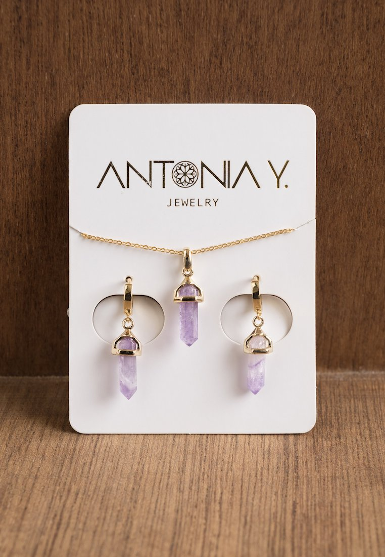 Amethyst Necklace & Earrings Gift Set | Antonia Y. Jewelry