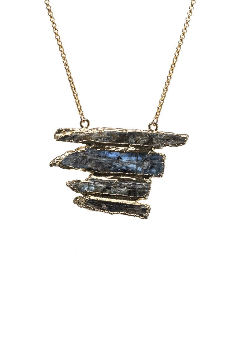 Kyanite Stack Necklace - Antonia Y. Jewelry