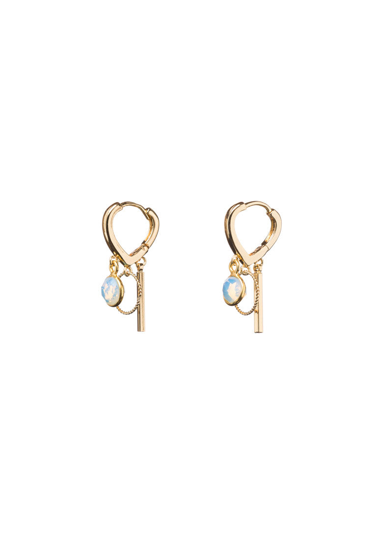 Trisha Opalite Gold Hoops - Antonia Y. Jewelry