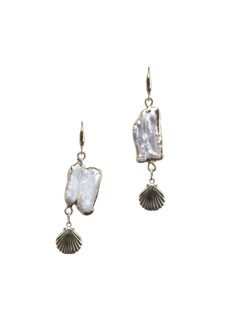 Mother of Pearl & Seashell Earrings - Antonia Y. Jewelry