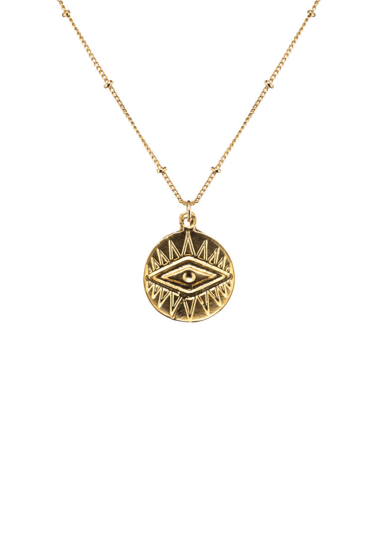 Alexa Evil Eye Gold Necklace - Antonia Y. Jewelry