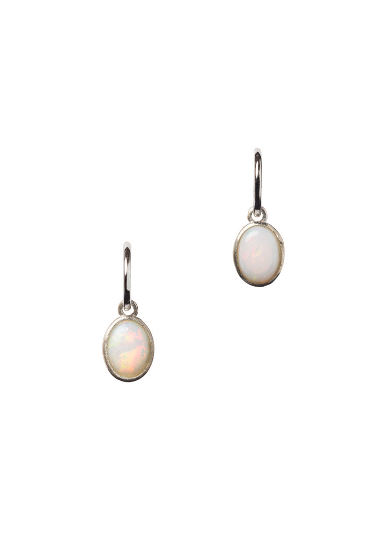 Australian Opal Oval Earrings | Antonia Y. Jewelry