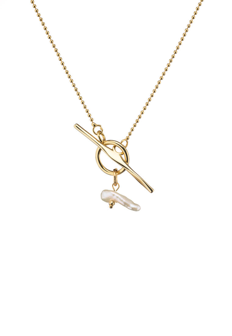 Adira T-bar Mini Pearl Necklace - Antonia Y. Jewelry