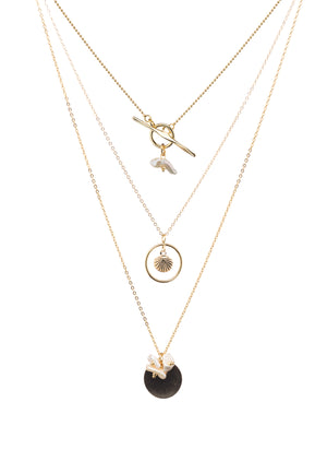 Erika Gold Disc Pearl Necklace | Antonia Y. Jewelry