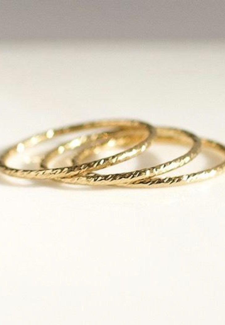 Dainty Gold Filled Rope Ring - Antonia Y. Jewelry