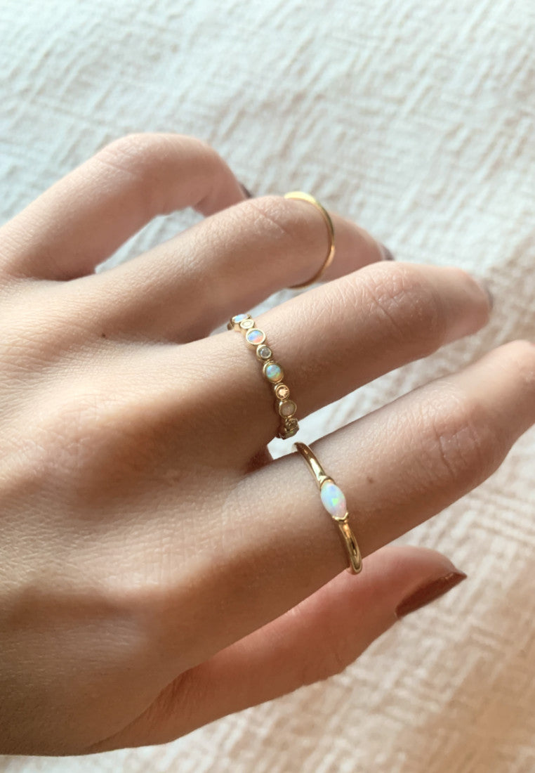 Dainty Opal Eternity Ring - Antonia Y. Jewelry