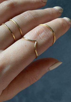 Dainty Gold Filled Plain Ring - Antonia Y. Jewelry