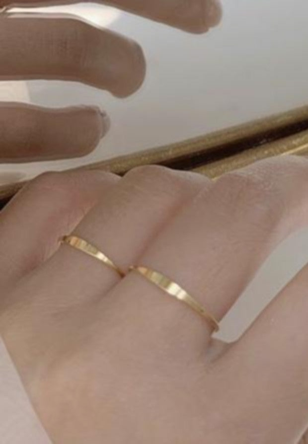 Dainty Gold Filled Signet Ring - Antonia Y. Jewelry
