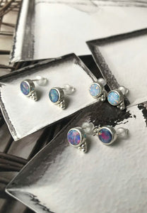 Bohemia Opal Stud Earrings | Antonia Y. Jewelry