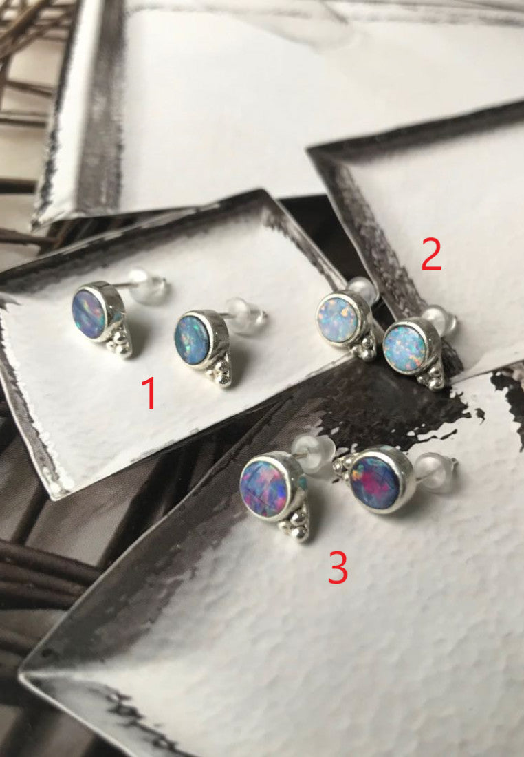 Bohemia Opal Stud Earrings - Antonia Y. Jewelry