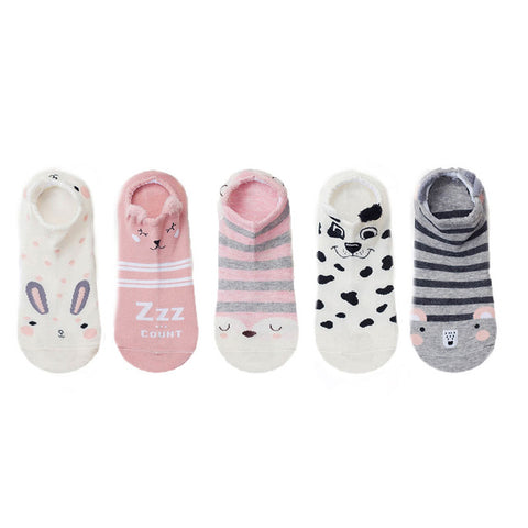 OB Cute Cat Cotton Socks Female Kawaii