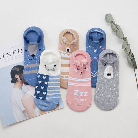 OB Kawaii Cute Cat Women Cotton Socks