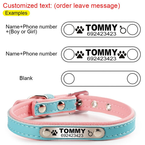 FLOWGOGO Personalized Engraved Cat Collar