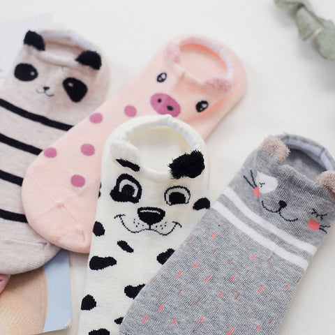 Kawaii Cute Cat Women Cotton Socks