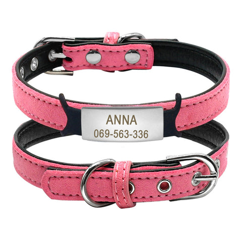 Soft Cat Collar and Tag Set Personalized