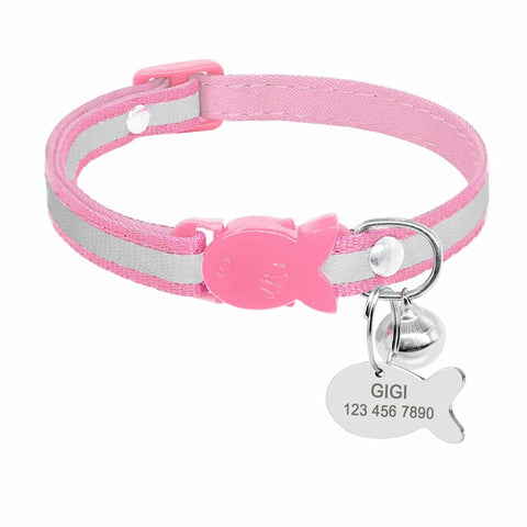 OB 9 Styles Cute Cat Collar Personalized