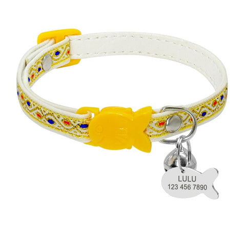 9 Styles Cute Cat Collar Personalized
